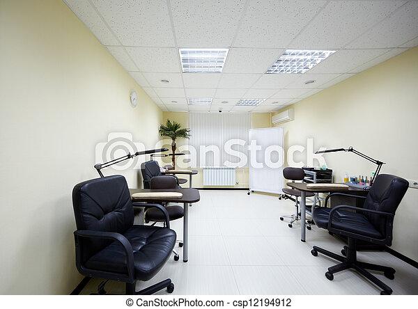 sala, manicure, dois, trabalhando, Lugares, beleza, salão - csp12194912