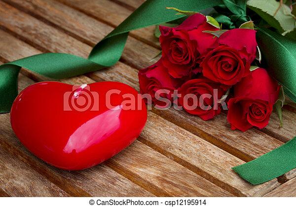 rosas,  valentines, Dia - csp12195914