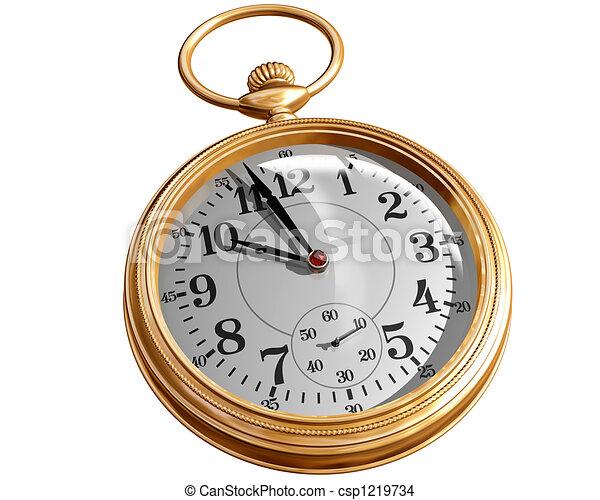 dessin de poche montre isol233 illustration de a or