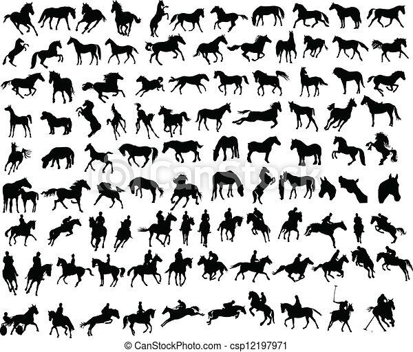 100 horses - csp12197971