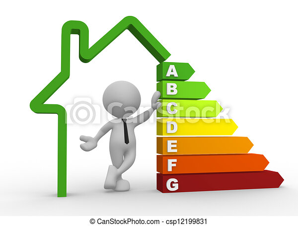 Energy efficiency chart - csp12199831