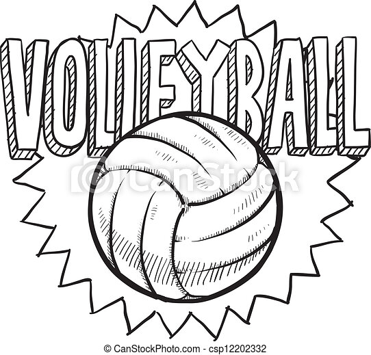 Volleyball Net And Ball Clipart