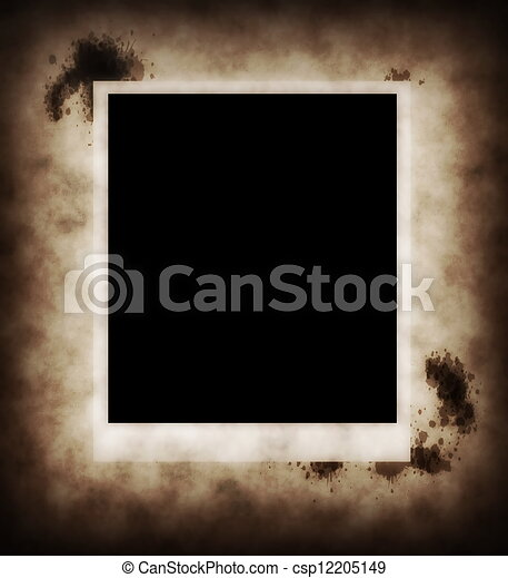 photo on old paper ink background - csp12205149