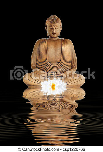 Contemplation by the Buddha - csp1220766