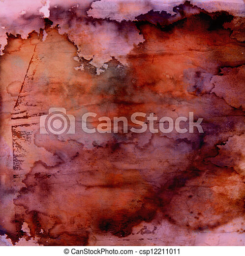 Designed grunge texture / old painted paper background - csp12211011
