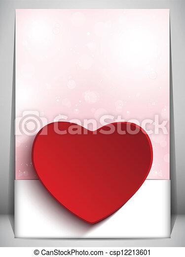Valentine Day Heart Letter Love - csp12213601