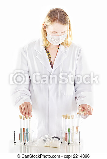 Person working in pharmaceutical laboratory - csp12214396