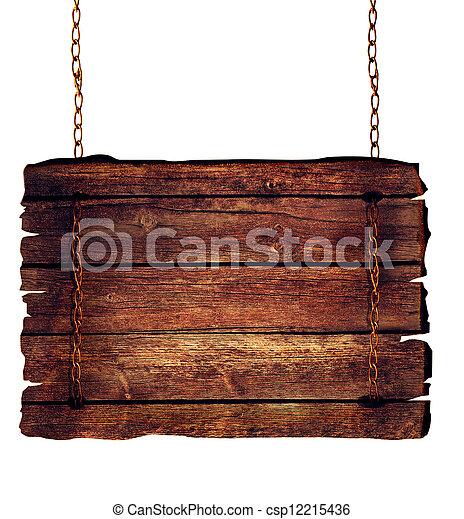 Wooden sign - csp12215436