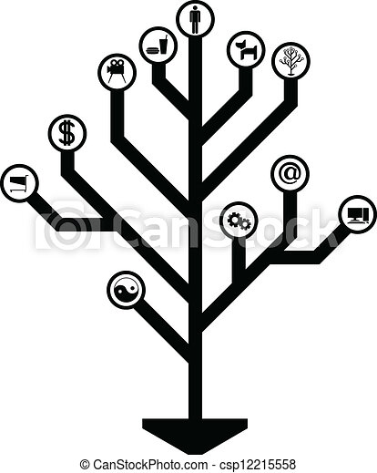 Vector - tree of life - stock illustration, royalty free illustrations ...