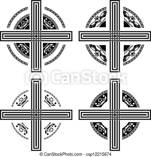 set of fantasy crosses - csp12215674