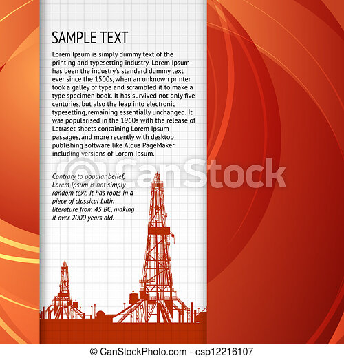 Industrial banner for your text - csp12216107