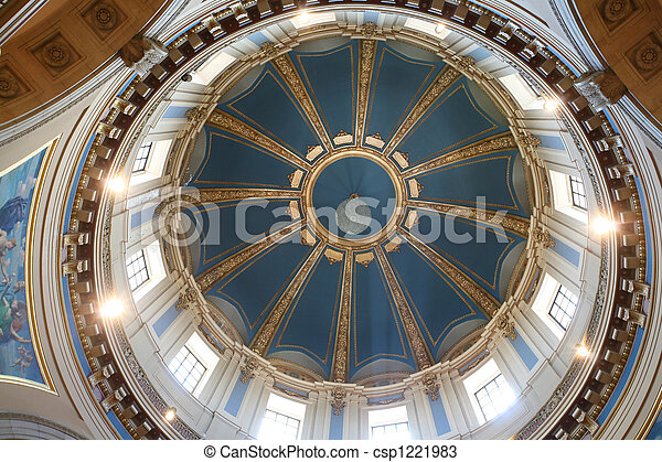 Interior of capitol dome in St. Paul, Mn - csp1221983