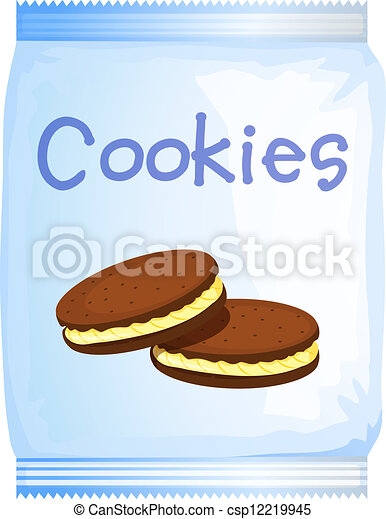EPS Vector Of A Pack Cookies Illustration On Csp12219945 Search
