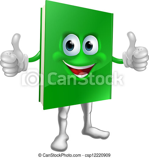 Book mascot education concept - csp12220909