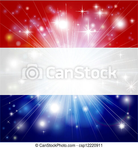 Dutch flag background - csp12220911