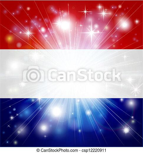 Dutch flag background - csp12220911