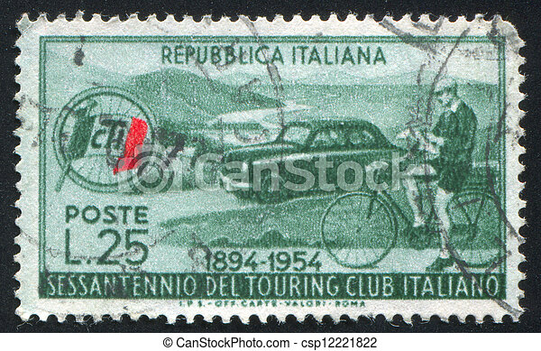 Automobile and Cyclist - csp12221822