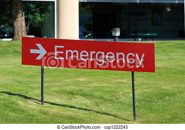 Hospital Emergency Room Sign - csp1222243