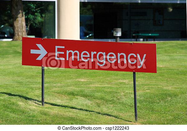 Hospital Emergency Room Sign - csp1222243