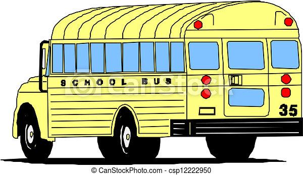 School Bus Drawings School Bus Csp12222950