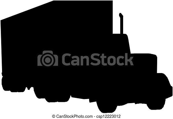 Semi Truck Silhouette Truck Silhouette