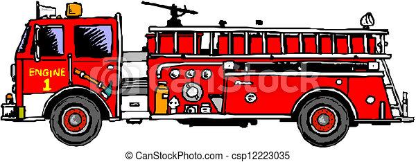 Clip Art Fire Truck Clip Art fire engine stock illustrations 3355 clip art images ladder