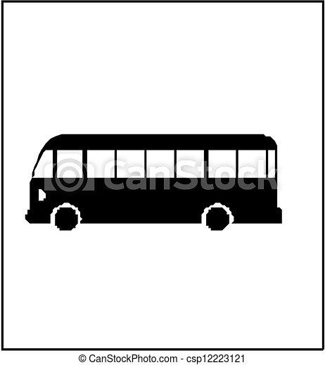 Autobus silhouette - csp12223121