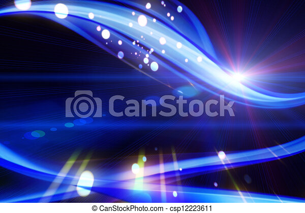 Futuristic technology wave background design with lights - csp12223611