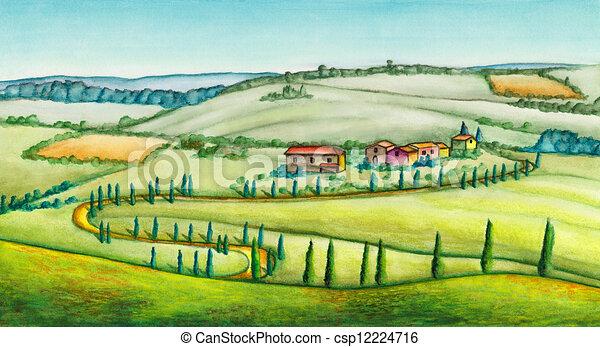 Rural landscape - csp12224716