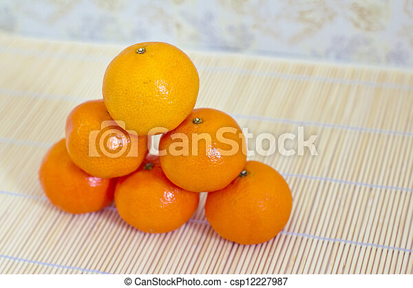 winter fruits: piled clementines