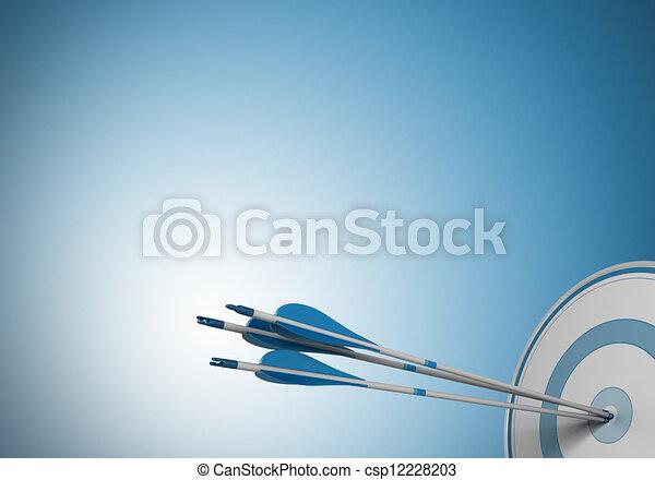 same objective, target arrow - csp12228203