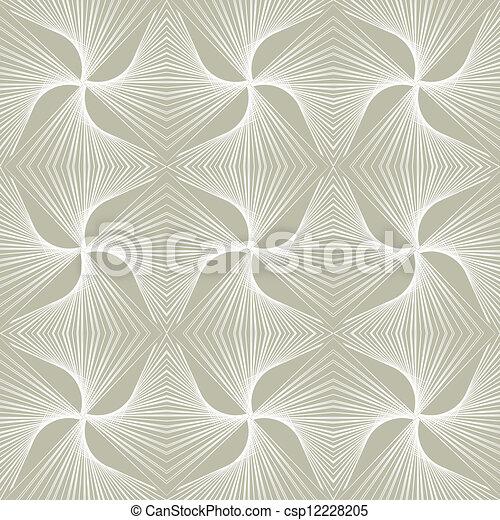 1930s geometric art deco modern pattern - csp12228205