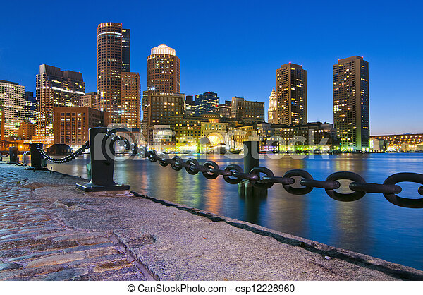 Boston Skyline - csp12228960