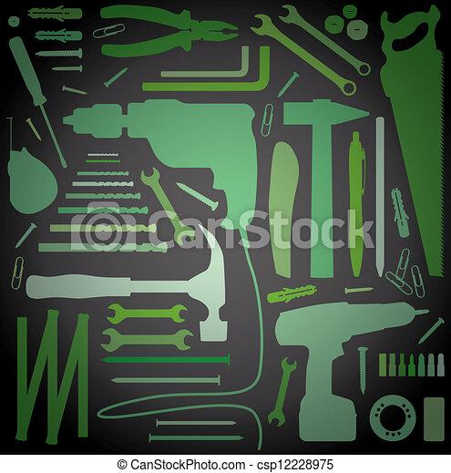diy tool - silhouette illustration - csp12228975