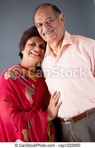 Elderly East Indian Couple - csp1222950