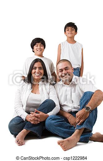 Happy Indian Family - csp1222984