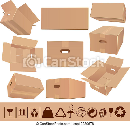 cardboard moving boxes  2