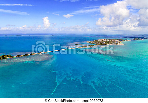 Florida Keys Aerial View with bridge - csp12232073