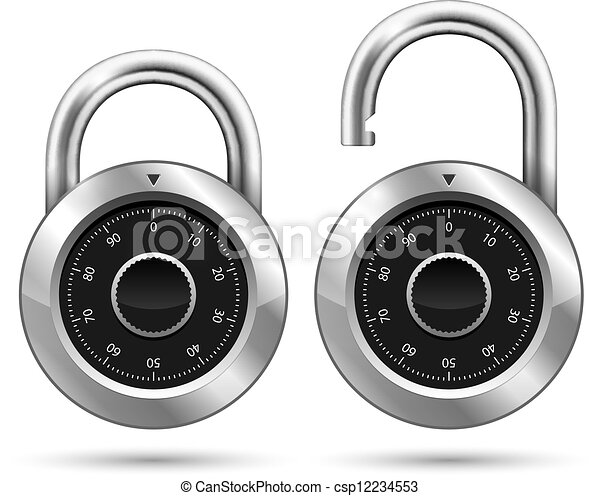 Security Padlock - csp12234553