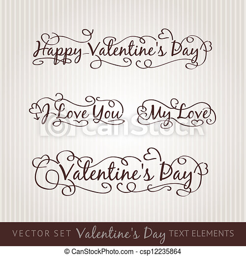 Happy valentine's day hand lettering. - csp12235864