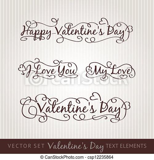 Happy valentine's day hand lettering. - csp12235864
