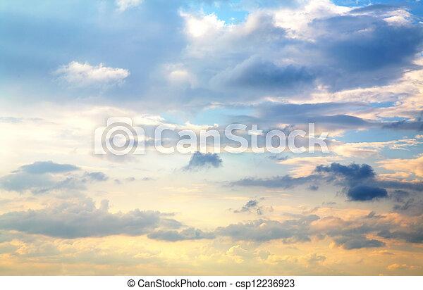 beautiful sunset sky - csp12236923