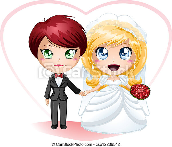 Lesbian Brides In Dress And Suit Getting Married - csp12239542