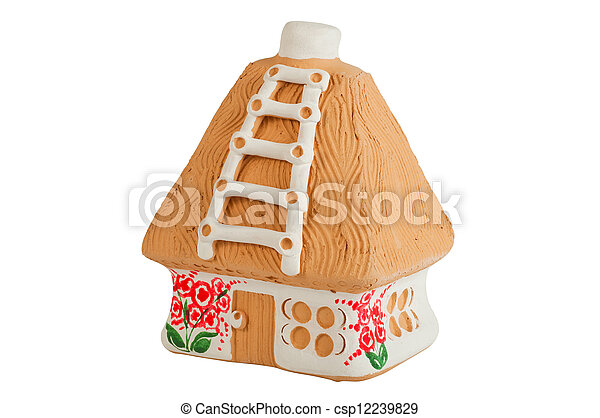 Miniature model country home (piggy bank) - csp12239829
