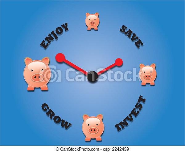 concepto, de, ahorro, inversión, y,  En - csp12242439