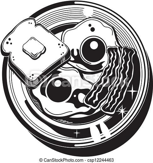 Breakfast Clip Art - csp12244463