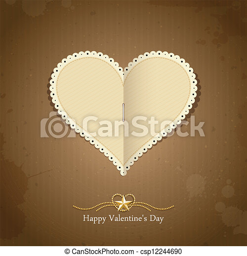 Happy Valentine day paper classic - csp12244690