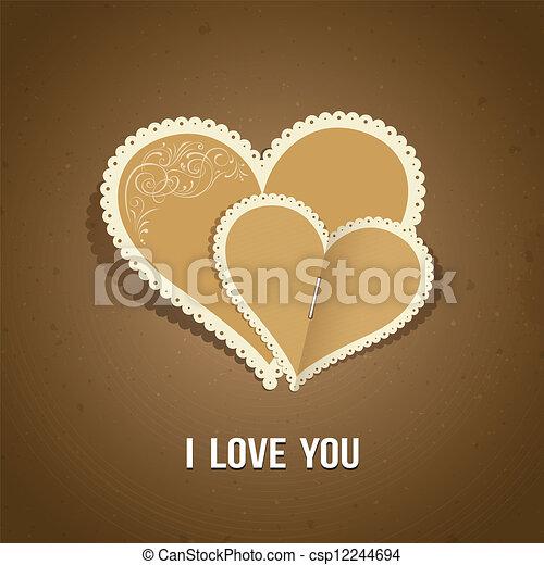 Happy Valentine day paper classic - csp12244694