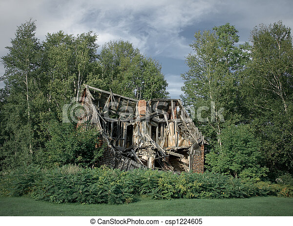 Ruins of abandoned rural house - csp1224605