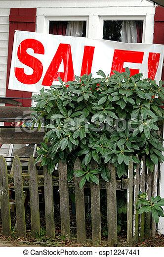 Sale banner. - csp12247441